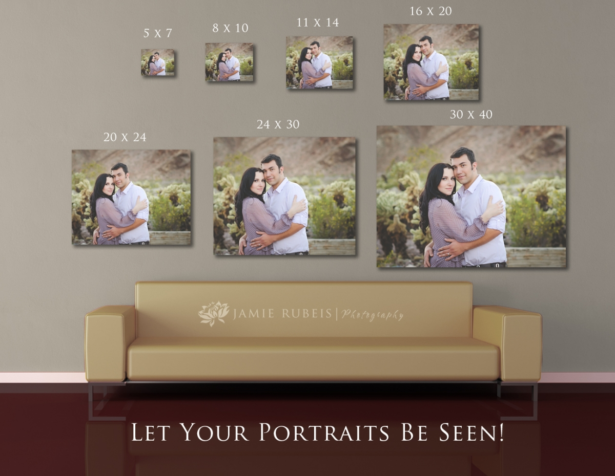 Wall display size comparison las vegas portrait photographer for What size tv for 12x12 room