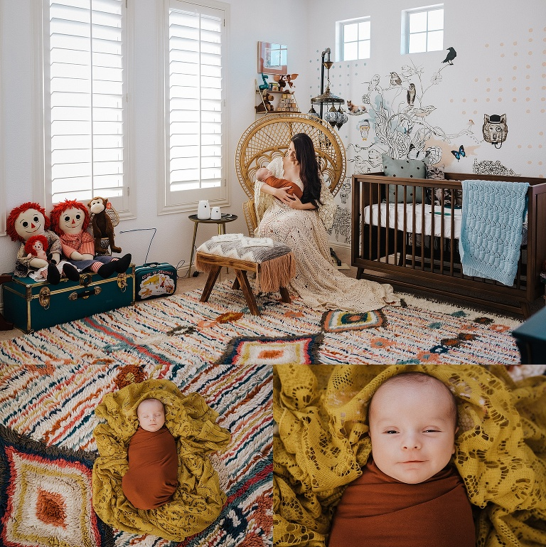 In Home Lifestyle Newborn Portraits