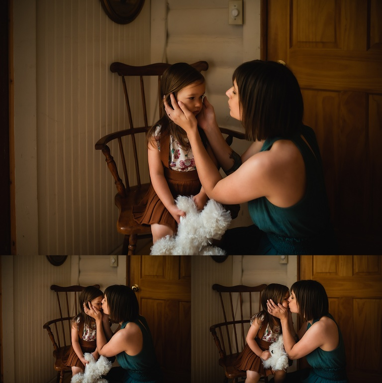 Mom and daughter portraits